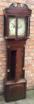Beautiful Antique Oak And Mahogany Long Case GrandFather Clock 5