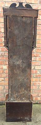 Antique Oak & Mahogany Longcase Grandfather Clock 8 Day 10