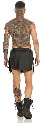 XS-XXXL*  Echt Leder Gladiator Skirt Kilt Rock Schwarz Neu Schnallen leder-joe 8
