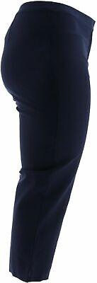 Dennis Basso Regular Size 4 Stretch Woven Crop Pants Navy Blue NEW 7