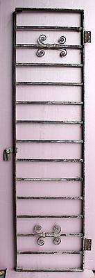 57x15 Antique Vintage Steel Iron Metal Fence Gate Door Panel Window Guard Grille 3