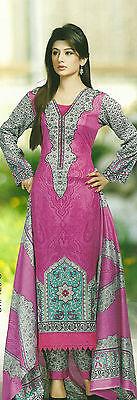pakistani beautiful summer designer cotton lawn salwar kameez unstitched suit 2