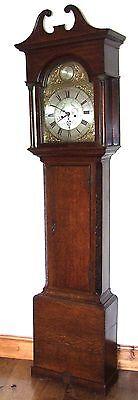 Antique 8 Day Oak Longcase Grandfather Clock Atkinson of GATESHEAD : Centre Date 2