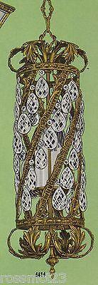 Vintage Lighting spectacular 1960s Hollywood Regency pendant by Halcolite 4