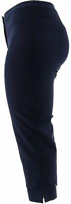 Dennis Basso Regular Size 4 Stretch Woven Crop Pants Navy Blue NEW 5