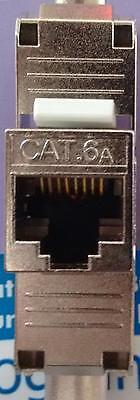 Keystone Modul Jack Cat.6 a 500 Mhz 10G geschirmt, werkzeuglos RJ 45 slim NK4003