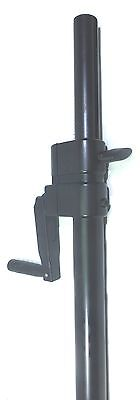 One (1) Pair LASE 101 Speaker Pole Mount Crank System with folding hand crank. 8