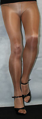 3 Pairs American Tan 80 Denier Hi Quality Medium Fabulous Shimmer Effect Tights