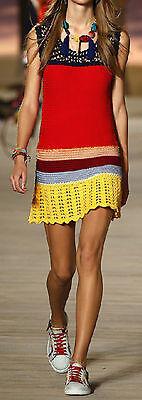 Vestito Donna Mini Copricostume - Woman Crochet Mini Dress Cover up 110164 3