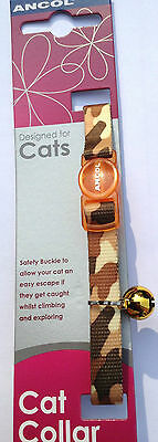 Ancol Cat Collar in 4 Camouflage Colours with a FREE ENGRAVED PET ID TAG & Ring 4