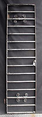 57x15 Antique Vintage Steel Iron Metal Fence Gate Door Panel Window Guard Grille 2
