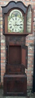 Antique Mahogany Rolling Moon Longcase Grandfather Clock G TOPHAM Congleton 5