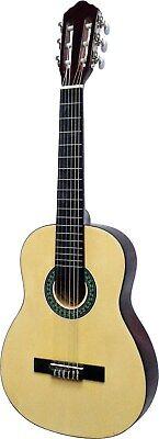 Gitarre//Kindergitarre-1//4-K7L-natur-linkshänder-lefthand-Tasche/&Gitarrengurt!n