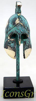 Ancient Greek Bronze Museum Replica Vintage Spartan Officer Battle Helmet 300 2