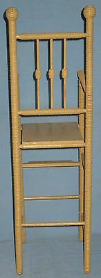 ANTIQUE DOLL HIGH CHAIR w/FOOT REST SPOOL TURNINGS BEEHIVE FINIALS ORIGINAL 4