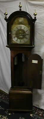 1788 Brass Face 8 Day Grandfather Clock by-Hector Simpson of London 2