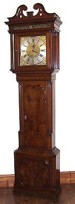 ~ Antique Brass Dial Burr / Pollard Oak Longcase Grandfather Clock MOSS FRODSHAM 2