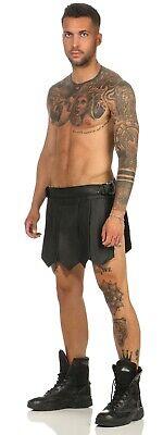 XS-XXXL*  Echt Leder Gladiator Skirt Kilt Rock Schwarz Neu Schnallen leder-joe 6