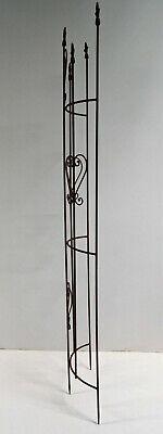 Rankgitter Spalier 2teilig Beetabgrenzung Metall dunkelbraun