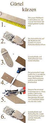 Buckle Kroko Optik Reptilprägung Leder Gürtel braun schwarz 4 cm Ledergürtel