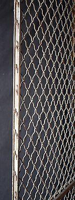 "32""x79"" Vintage Old Steel Metal Fence Gate Door Panel Grille Industrial Factory 6"