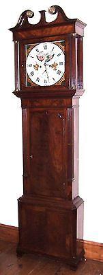 Antique Mahogany Halifax Moon Longcase Grandfather Clock by Thomas DEAN of LEIGH 2