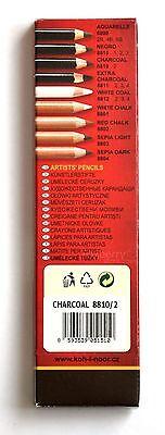 Art Pencils KOH-I-NOOR GIOCONDA Chalk Charcoal Sepia Negro White Coal Graphite 2