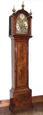 Antique Walnut  MONTH DURATION Longcase Grandfather Clock Etherington LONDON 2