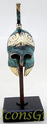 Ancient Greek Bronze Museum Replica Vintage Thespian Officer Battle Helmet Snake 2