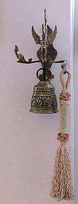 Antique Vintage Solid Brass Bell Art Nouveau Gargoyle  - Free Post Mainland 5