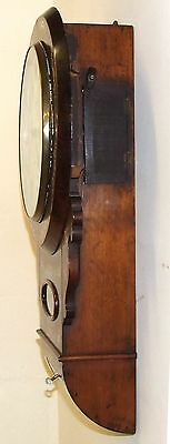 Antique ROSEWOOD & Mother of Pearl TWIN Fusee Drop Dial Clock HAMMON MANCHESTER 8