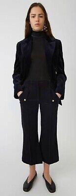 Acne Studios Crop Kick Flare Cord Pant Navy Size 32 3