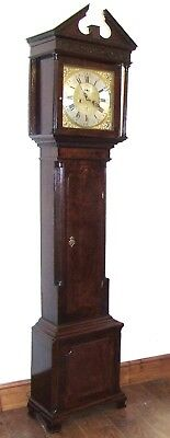 Antique 8 Day Georgian Inlaid Mahogany Longcase Clock ALEX GORDON DUBLIN 2