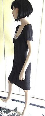 Kleid Abendkleid Escada Couture Gr. 36 schwarz weiß Pailletten edel LUXUS PUR 4