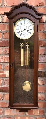 GERMAN Hermle Laterndluhr Vienna Wall Clock 3 Subsidiary Dials DAY DATE MONTH 6