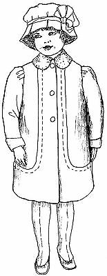 "36/"" inch Doll 1850 Victorian Winter Dress\Coat Sewing Pattern #/""21-36"