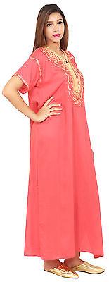 Caftan Moroccan Women kaftan Arabian Beach Summer Long Dress Muslim Abaya Cotton