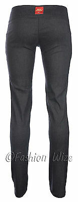 Ladies Girls Smart Trousers Casual Sizes 6 8 10 12 14 Skinny Leg Black Grey S8 4
