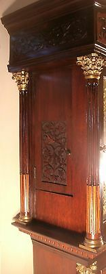 """Antique Mahogany Brass Dial """"Month Duration """" Longcase / Grandfather Clock 6"""