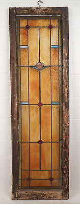 Tall Vintage Stained Glass Window Panel (2885)NJ 3