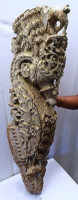 Bracket Wooden Carved Corbel Indian Vintage Mughal Art Architectural Collectible 11