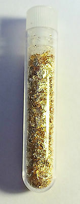 Vial full of Gold Leaf/Flake (Awesome Gift).