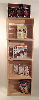 SET OF 2-Rustic Primitive Stacking Large Wood Display Crates-Retail-Home-Books