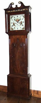 ~ Antique Mahogany Halifax Moon Longcase Grandfather Clock by Butler BOLTON 2