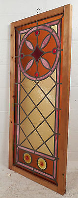Vintage Stained Glass Window Panel (3052)NJ 2