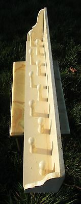 Vintage Barn Rustic Peg Coat Rack Authentic 10 Hooks Charming White Paint