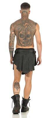 XS-XXXL*Gladiator Kilt Skirt Legionär Rock Schwarz NEU Gürtel Schnallen Larp NEU 7