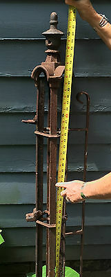CAST IRON Gate Post ORNATE ARCHITECTURAL ANTIQUE 1850 9