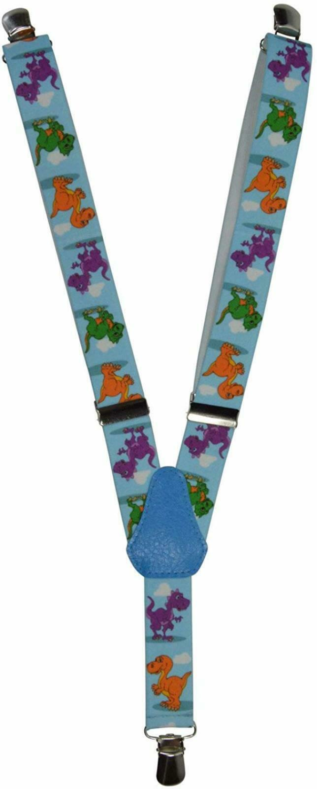 Childrens 1-5 Years Elasticated Clip on Braces/Suspenders with Dinosaur Design 3