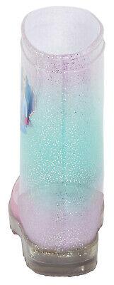 Disney Frozen 2 Girls Light Up Wellington Boots Elsa Anna Flashing Snow Wellies 4